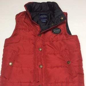 💯LUCKY BRAND Boy's Red Puffy Vest